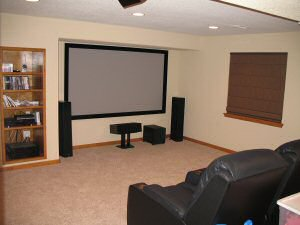 interior design magazine: media rooms in basements